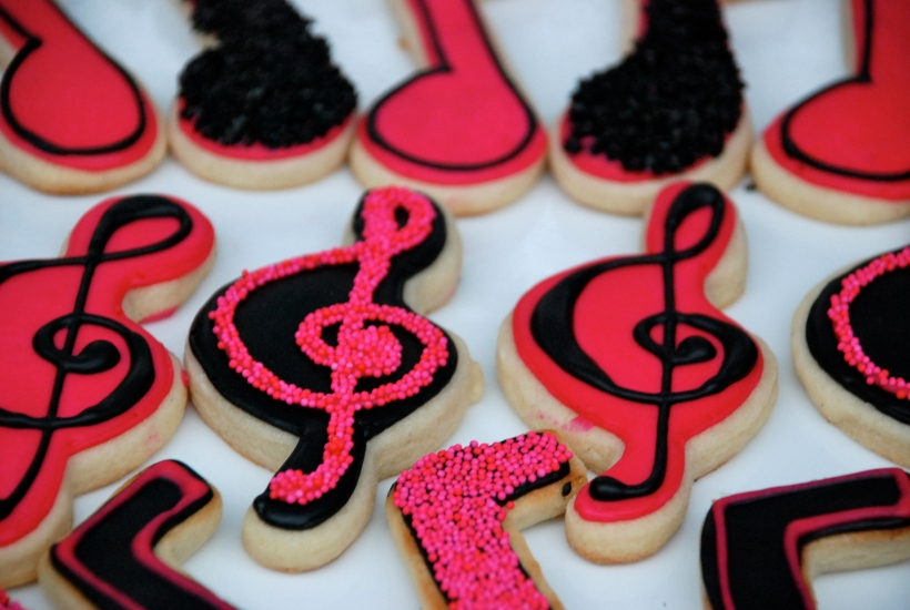 Musical Notes and treble clef. Perfect for a singer, rockstar, or teen!