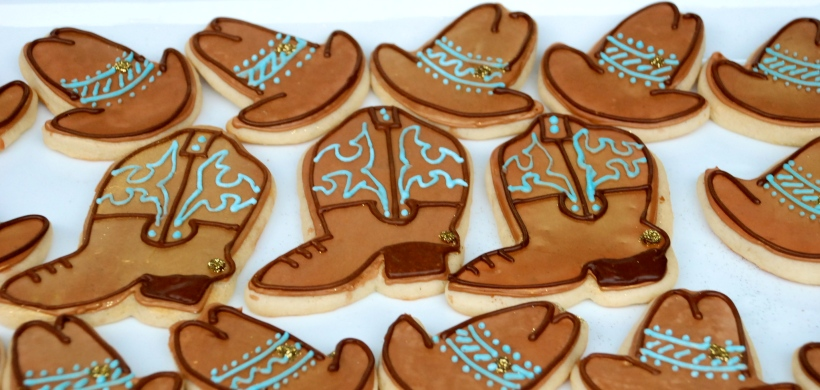 Western cookies: Cowboy and Cowgirl hat and boot cookies!