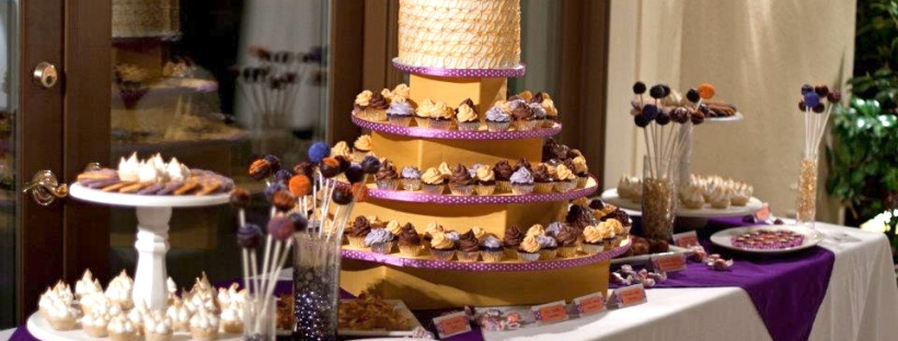 Mini cupcakes, truffles, wedding cake, lemon meringue pies, peach tarts, cake pops, cookies, and more!