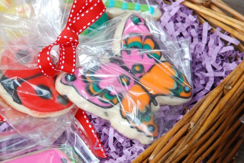 Butterfly sugar cookie, summer theme picnic set