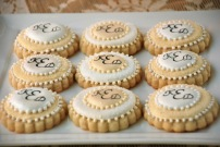 Monogrammed Wedding Favor Sugar Cookies