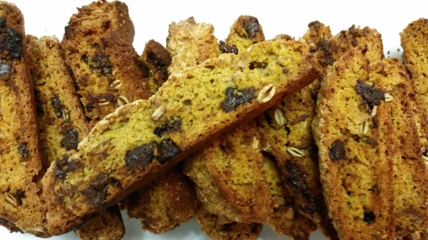 Chocolate Pumpkin Biscotti
