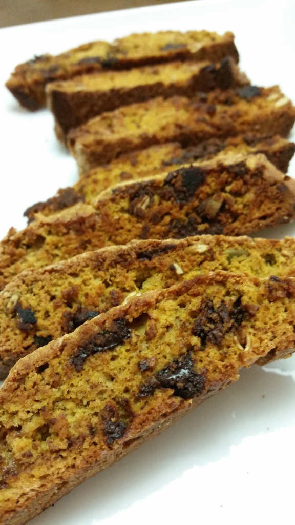Chocolatey Pumpkin Biscotti